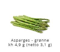 Mine bedste lchf opskrifter kulhydrat tabel asparges groenne