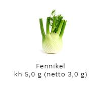 Mine bedste lchf opskrifter kulhydrat tabel fennikel